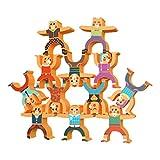 NUOBESTY 1 Satz Stapeln Spielzeug Holzstapel Spielzeug Stapelspiel Lernen Spielzeug Holzspielzeug Motorikspielzeug Kinder Vorschule Spielzeug für Kinder Jungen Mädchen