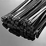Kabelbinder stark extrem, 1000pcs Selbstsichernde Kunststoffkabelbinder, schwarz 5X300 4x200 Kabelbinder Befestigungsring, 3x200 Kabelbinder zip hüllt Gurt, Nylon Kabelb
