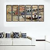 999Store Mehrfach-Bilderrahmen, digital Bedruckt, laminiert, Bedruckt, abstraktes Boot, indisch, groß, indisch, groß, 6 Rahmen
