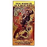 Chifang Vintage Werbefilm Poster Ten Nights In A Bar Room Klassische Leinwand Gemälde Vintage Wandposter Wohnkultur Geschenk-60X120 cm x1 Kein Rahmen