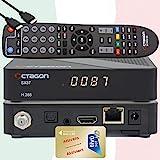 TiVuSat HD Gold Karte aktiviert mit vorprogrammiertem Sat TV Receiver Octagon SX87 HD H.265 S2+IP HEVC Set-Top Box - Mediaplayer, YouTube, Web-Radio, iOS & Android App, USB PVR, + EasyMouse HDMI
