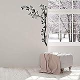 Wandaufkleber, Wandaufkleber für Schlafzimmer Erwachsene Wandtattoo Ast Baum Bart Blatt Natürliches Wohnzimmer Kunst Wandbild Wandtattoo 57X45C