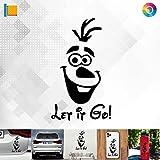 Decus Shop Let it go. Olaf 2964 // Sticker Aufkleber vers. Größe Farbe