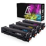 4 Alphafax Toner kompatibel mit HP CF540A CF541A CF542A CF543A für Color Laserjet Pro M-280nw M-281fdn M-281fdw M254nw M254dw - 203A