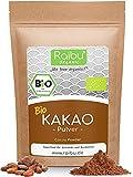 RAIBU® Kakao Pulver BIO Vegan I 200g Reines Kakaopulver entölt ideal zum Backen als Backkakao oder als Trinkschokolade I 100% natürlicher Rohkakao in BIO-Qualität abgefüllt in Deutschland