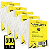 blaash® Card Sleeves   500 Premium - Hüllen   Transparente Kartenhüllen für alle gängigen Spiel- und Sammelkarten wie Pokémon, YuGiOh, MTG, Match Attax  Standard Penny Soft Sleeves   67 x 94mm