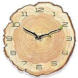 HyFanStr Wanduhr Vintage Holz, Antike Wanduhr Ohne TickgeräUsche, Uhr Vintage Wanduhr Landhausstil, Lautlose Wanduhr Shabby für Kienchen W