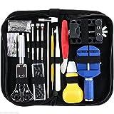 147-teiliges Uhren-Reparatur-Werkzeug-Set Professionelles Federsteg-Werkzeug-Set für Uhrenkette, Stift-Werkzeug zum Entfernen von Uhren, mit Tragetasche und Hammer