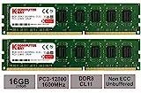 Komputerbay 16GB (2x 8GB) DDR3 PC3-12800 1600MHz DIMM 240-Pin RAM Desktop Speicher 11-11-11-28 XMP b