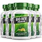 BIO REV Premium - Garcinia Cambogia Kapseln mit pflanzlichen und gut verträglichen Inhaltsstoffen| Für Frauen und Männer - 90 Kapseln pro Dose (5 Dosen)