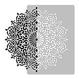 Wiederverwendbare Wandschablone aus Kunststoff // GEOMETRISCH - MANDALA #3 - BLUME // Muster Schablone Vorlage (Durchmesser 59 cm)