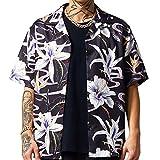 Herren Kurzarmhemden Entspannt Bedruckte Trend Fashion Revers Bequeme lässige Outdoor Hippie Hawaiihemden L