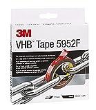 3M VHB 5952F Klebeband doppelseitig, Starke dauerhafte Verbindung von Glas, Kunstoffen etc., Schwarz, 19 mm x 3