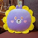 BOIPEEI 1Pc 20Cm Kawaii Sonnenblumenkissen mit Decke Cartoon Gefüllte Teddybär Schwein Katze Frosch Hase Plüschtier Baby Puppe Schönes Kind Geschenk