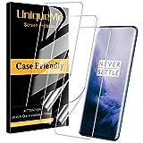 UniqueMe [3 Stück] schutzfolie für Oneplus 7T Pro/Oneplus 7 Pro Folie, Oneplus 7T Pro [Flexible Folie] Soft HD TPU Klar Displayschutz Display