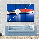 104Tdfc Bilder 3 Teilig Leinwand Wanddeko Geschenk 50X70Cm Rahmen Leinwanddrucke Tischtennisschläger & Ball Moderne Wandbilder XXL Wohnzimmer Wohnkultur Geschenk