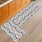 HLXX Anti-Rutsch-Küchenbereich Teppich Waschbar Bunt Boho Bedruckte Bodenmatte Wohnzimmer Balkon Badezimmer Teppich A11 40x120cm