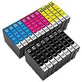 ESMOnline kompatible Druckerpatronen als Ersatz für Epson 016/016XL (Schwarz, Cyan, Magenta, Gelb; 20er Set) für Workforce WF-2760DWF 2750DWF 2660DWF 2650DWF 2630WF 2540WF 2530WF 2520NF 2510WF 2010W