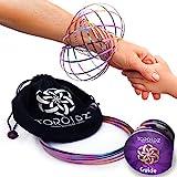 Toroidz ® Flow Ring (Regenbogen) + Samtbeutel - Wunderbares Magisches Spielzeug - 3D ARM Slinky - Wissenschaft, Zirkus, Magic Anti Stress Toy - Alle Altersgrupp