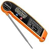 AQwzh Pro TP01 Fleischthermometer, digital, sofort ablesbar, digitales Lebensmittelthermometer, Süßigkeiten-Thermometer, für Küche, Grill, Smoker, Fleisch, Kaffee, Öl, Milch, Joghurt, Temperatur