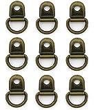 HAND ® Schnürsenkel Ösen SCE02 Antique Gold Kupfer-Schleife und Ring - Packung mit 20