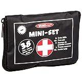 Mini-Set 'Erste Hilfe', Notfall, Pflaster, Verband, Erste-Hilfe Kasten, Mullbinde, Verband, Pinzette, Schere, Klammern, insg. 38 Teile, 16 x 3 x 11 cm