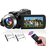 Camcorder 2.7K Videokamera mit integrierter LED-Füllleuchte, 42MP 30FPS FHD YouTube Videoaufnahme Leichte Camcorder 18x Digital Zoom Suppor Web