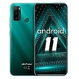 Smartphone ohne vertrag, Ulefone Note 10 Android 11 Handy 6,52', 2GB+32GB, 5500mAh, 8MP+2MP+2MP Kamera, 3-Karten-Steckplatz, OTG, Fingerabdruck, 4G Dual SIM (Grün)