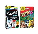 Mattel Games - Kartenspiel-Set für Kinder: Phase 10 junior + UNO junior (für 2-4 Spieler ab 3 Jahren)