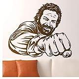 Hanzeze Fototapete Bud Spencer Berühmte Berühmte Italienische Comedian Schauspieler Porträt Vinyl Deco Humorvolle Wanddekortion 42x49cm