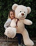 XXL Teddybär Plüsch Kuschel Stoff Plüsch Riesen Teddy Bär Groß Geschenkidee 160cm [Beige]
