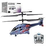 MKZDGM RC Hubschrauber mit Gyroskop und 2.4G LED Lichtern, 3,5 Kanal Feste Höhe Hubschrauber EIN-Taste Start/Landung, Indoor-Drohne, Kinder Erwachsene Fernbedienung Hubschrauber Spielzeug Geschenk