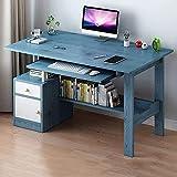 Computertisch mit Schublade, modernes Heimbüro, PC, Laptop, Workstation mit Stauraum, platzsparend, einfache Montage, D-B