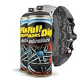 FullColors Kit x2 Lacksprays für Bremssättel, 400 ml, einfache Anwendung, professionelles Finish (Farben zur Auswahl), Schwarz