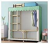 LJWLZFVT Klappbarer Kleiderschrank, Schrank, Faltbarer Kleiderschrank mit Kleiderstange, tragbarer Kleiderschrank, einfach zusammenzubauen, für Kleidung, Taschen(Size:128X45X170CM,Color:C.)