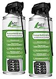 AGT Professional Kriechöl: Premium-Multiöl mit Multifunktions-Sprühkopf, 2X 400 ml (Ölsprays)
