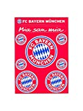 FC Bayern München Aufkleberkarte Log