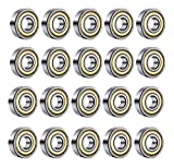 20Pcs 608zz Skateboard Lager Bear ABEC-9 Double Sealed Shielded Miniature Deep Groove 608zz Lager aus Metall für Skateb