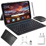 Tablet 8 Zoll Android 10 (720p Full HD-Display IPS) 3GB RAM 32GB ROM Quad-Core Tablet mit Deutsche Tastaturaufkleber Stift Tastatur, Type C, 5MP Dual Kamera 5000mAh Akku WiFi SD Bluetooth Tablet PC