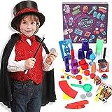 Tacobear Zauberer Kostüm Kinder mit Zauberkasten Zaubertricks Zauberer Zubehör Set Magier Kinderkostüm Rollenspiel für Fasching Karneval Halloween Geburtstagsparty