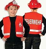 Party-Chic 15534 Kinder Kostüm-Feuerwehr-Weste-Gr. 104