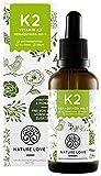 NATURE LOVE® Vitamin K2 MK-7-200µg (50ml flüssig) - Höchster All-Trans Gehalt 99,7% und natürlich fermentiert - Hochwertig: Gnosis VitaMK7 - Hochdosiert, vegan, in Deutschland produziert