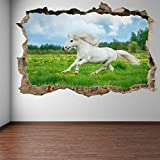 Wall Sticker Pony Horse Grass Wall Stickers Mural Decal Kids Bedroom Home Decor-70x100