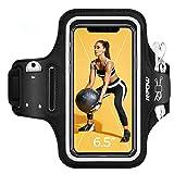 Mpow Sportarmband Handy für iPhone 12 Pro/11/XR/ 8 Plus/7 Plus Samsung S9 Plus bis zu 6, 5 Zoll, Schweißfest Sportarmband mit Reflektivband, Kopfhörer-Schlitz, Schlüssel-Schlitz für Joggen, Radfahren