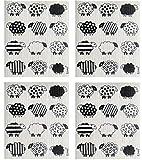 NineLives Spültuch Schafe im 4er-Set   Tücher aus Baumwolle und Cellulose für Geschirr, Küche, Bad   Schwamm, Putzlappen