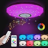 Zkodeamig LED Deckenleuchte Dimmbar,36W Deckenlampe LED mit APP Fernbedienung Farbwechsel, 3000K-6500K Bluetooth LED-Deckenleuchte,30CM LED Deckenbeleuchtung für Schlafzimmer Wohnzimmer Kinderzimmer