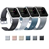 Yandu Ersatzarmband kompatibel mit Fitbit Blaze, Fitbit Blaze und Rahmen nicht im Lieferumfang enthalten (02 Silber + Schwarz + Schiefergrau + S)