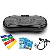 Bluefin Fitness Ultra Slim Power Vibrationsplatte   Fett verlieren und Fitnesstraining von Zuause   5 Trainingsprogramme + 180 Stufen   Bluetooth Lautsprecher   Einfache Aufbewahrung  Schlankes Design