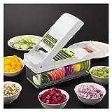 Mdbh. Küchenzubehör Gemüse und Obst Slicer-Reiber Shredder Peeler Multifunktionsgerät Ablaufkorb Werkzeug (Color : White)