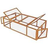 TecTake 403241 XXL Hasenstall mit Freilauf, Freigehege aus Holz und Metallgitter, Kaninchenstall mit 4 Türen, 181 x 90 x 48 cm